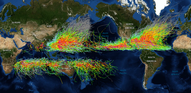 Figure 1. Global Tropical Storms, 1848 - 2013.