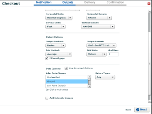 Figure 2. Advanced options turned on to get the return types drop down box.