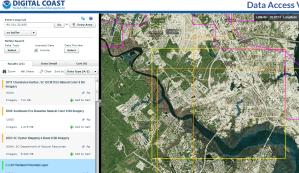 Data Access Viewer screenshot showing area of interest box.