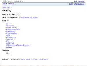 Hidden service folders on OCM ArcGIS REST Services Directory