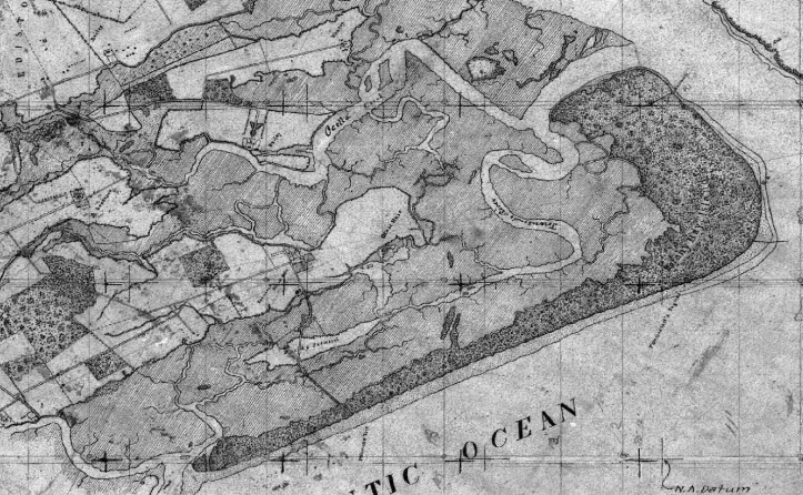A sample of a T-sheet from Edisto Island, South Carolina illustrates the high level of detail mapped.