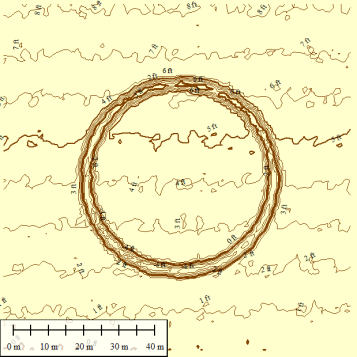 Contours from 1-meter DEM