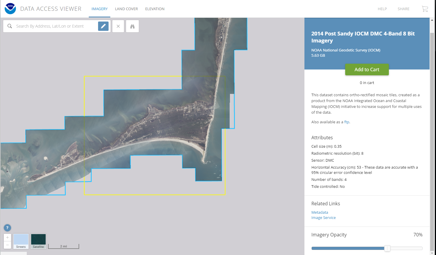 Example of image services for a 4 band imagery data set you can see