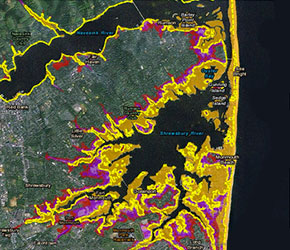 Future flood risk map products display what the future 100-year floodplain boundaries could look like with sea level rise.