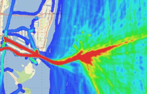 Image of AIS heat map from the Port of Miami.
