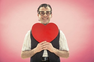 image of someone holding a valentine's day heart