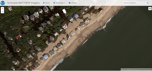 Screen grab from the NGS emergency response oblique imagery viewer.